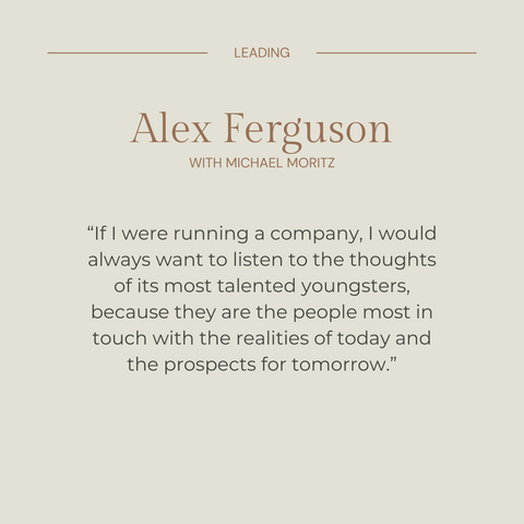 Leading Book Summary Learning From Life and My Years at Manchester United Quote 3
