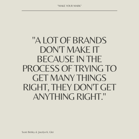 Make Your Mark Book Summary The Creative's Guide to Building a Business with Impact Quote 3