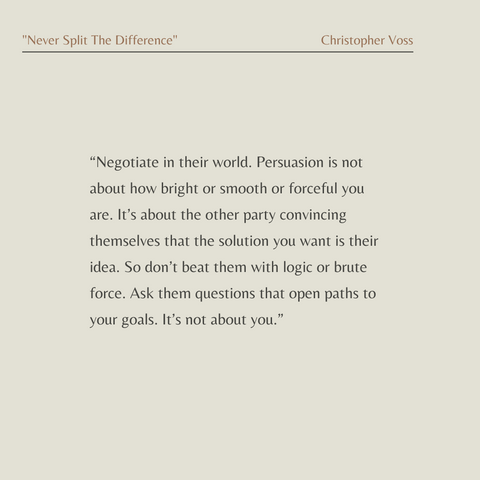 Never Split the Difference Book Summary Negotiating As If Your Life Depended On It Quote 2