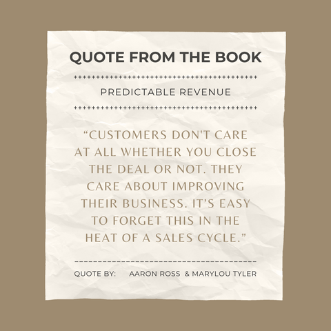 Quotes From The Book Predictable Revenue Image 1
