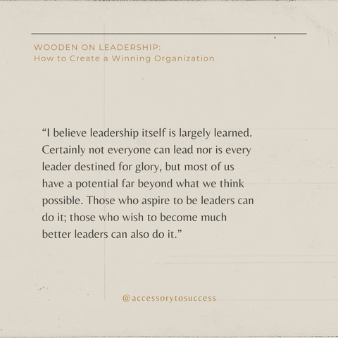 Quotes From The Book Wooden On Leadership Image 1