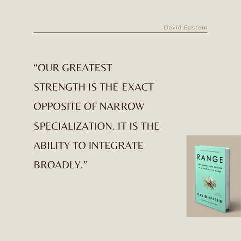 Range Book Summary Why Generalists Triumph in a Specialized World Quote 1