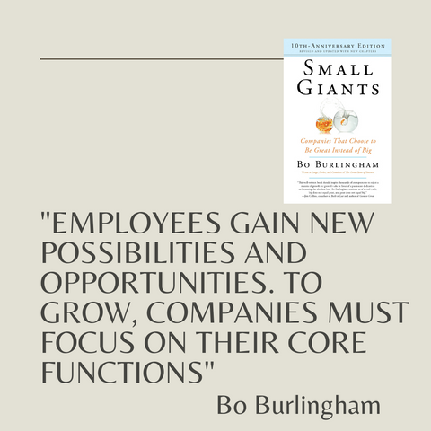 Small Giants Book Summary Companies That Choose to Be Great Instead of Big Quote 1
