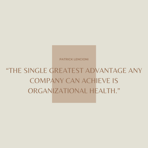The Advantage Book Summary Why Organizational Health Trumps Everything Else In Business Quote 1