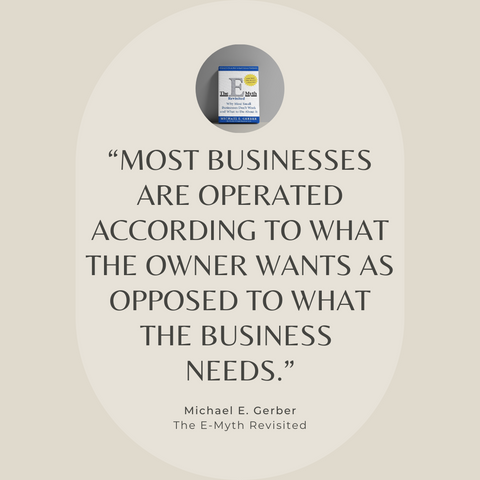 The E-Myth Revisited Book Summary Why Most Small Businesses Don't Work And What To Do About It Quote 2