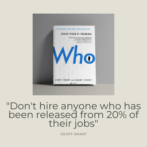 WHO Book Summary The A Method for Hiring by Geoff Smart & Randy Street Quote 1