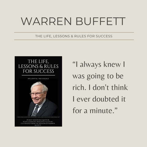 Warren Buffett Book Summary Life, Lessons and Rules for Success Quote 1