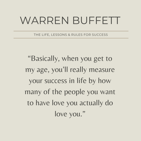 Warren Buffett Book Summary Life, Lessons and Rules for Success Quote 2