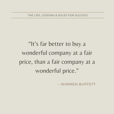 Warren Buffett Book Summary Life, Lessons and Rules for Success Quote 3