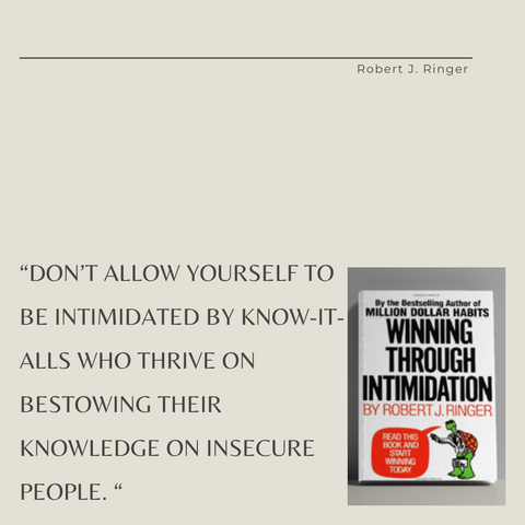 Winning Through Intimidation Book Summary How to Be the Victor, Not the Victim, in Business and in Life Quote 4