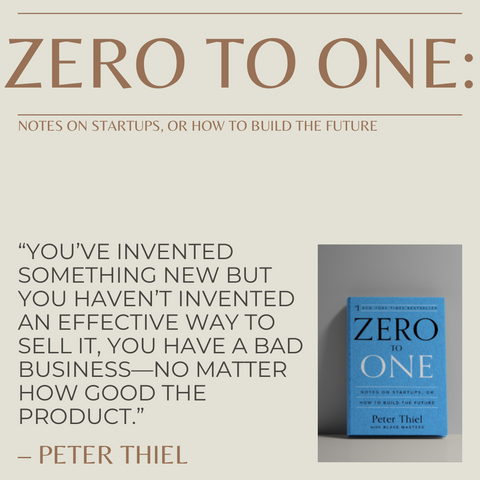Zero To One Book Summary Notes on Startups, or How to Build the Future Quote 2