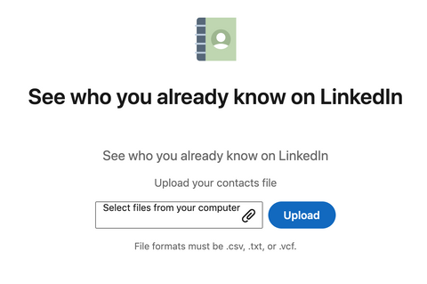 uploading them to Google contacts then syncing that with LinkedIn part 2
