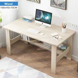 Wooden Computer Desk Minimalist Bedroom Student Dormitory Learning Table Single Writing Desk Standing Home Office Furniture
