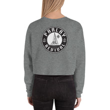 Load image into Gallery viewer, Parlay Revival Women's Crop Sweatshirt Black Logo