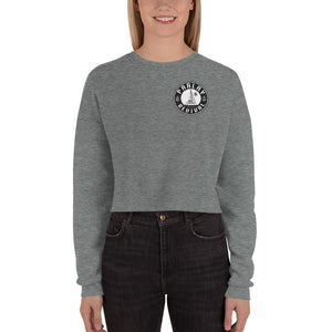 Parlay Revival Women's Crop Sweatshirt Black Logo