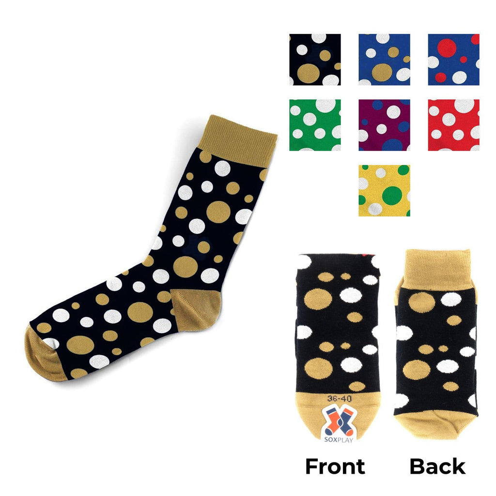 """DOTS"" FANCY <br> MADE IN ITALY CALZINO SINGOLO - UNISEX <br> Componi il TUO paio Soxplay"