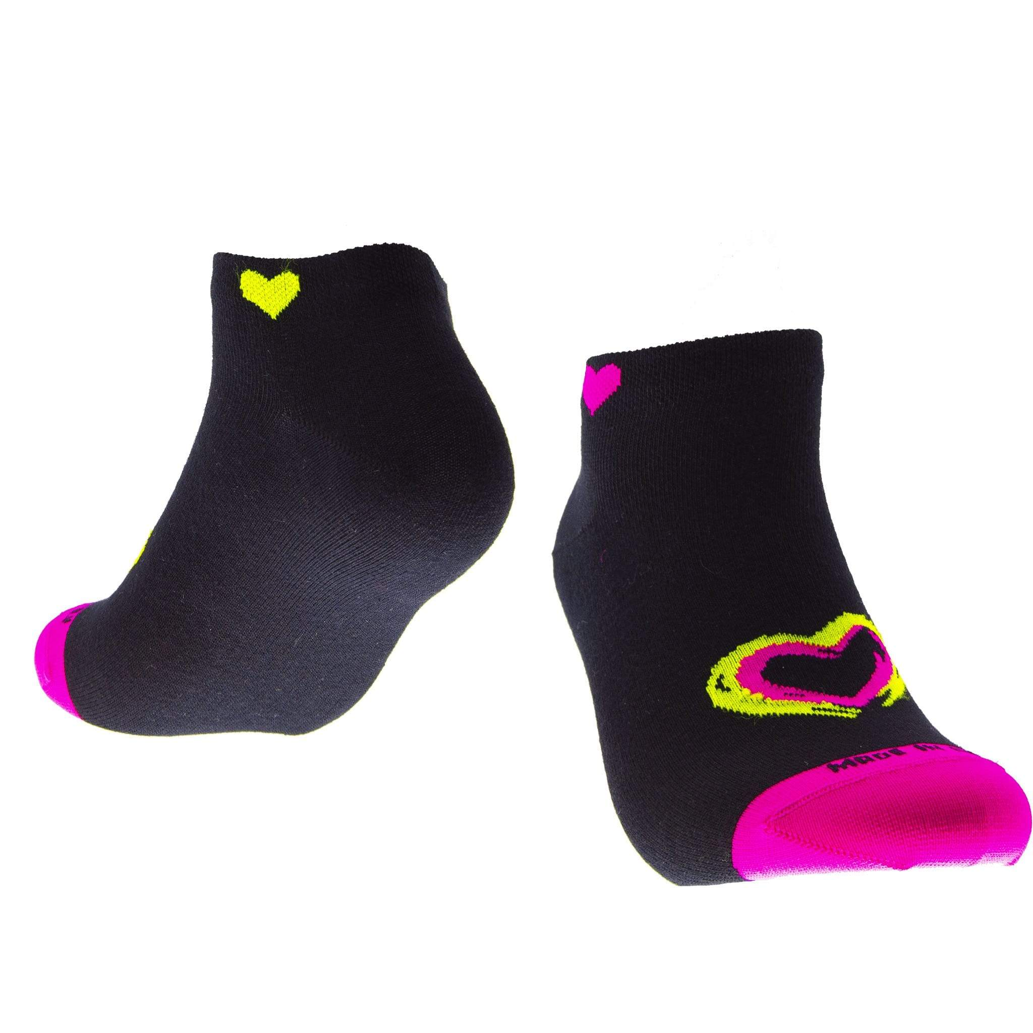 """SNEAKER LOVE FLUO"" FANCY <br> MADE IN ITALY CALZINO SINGOLO - DONNA <br> Componi il TUO paio soxplay"