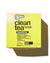 Yellow box with black text of BSC Clean Tea product