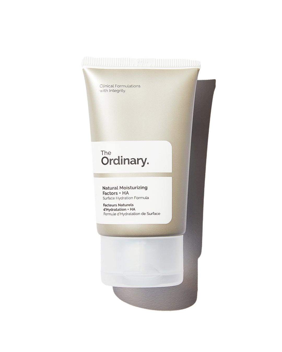 The Ordinary Natural Moisturizing Factors in silver tube with white label on white background