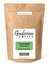 Load image into Gallery viewer, 32 oz bag Decaf Gaderian Coffee Medium Roast Specialty Whole Bean