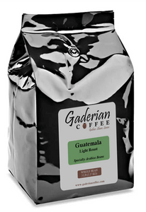 5 lb bag Gaderian Coffee Light Specialty Whole Bean