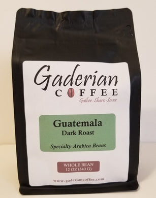 12 oz Specialty Grade Coffee, Guatemala - Dark Roast, Whole Bean