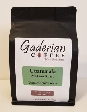 12 oz Specialty Grade Coffee, Guatemala - Medium Roast, Whole Bean