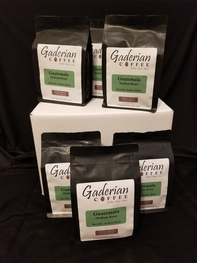 12 oz Specialty Grade Coffee (Case of 12 Bags), Guatemala - Medium Roast, Whole Bean