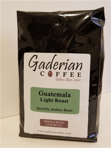 2 lb Specialty Grade Coffee (Case of 6 Bags), Guatemala - Light Roast, Ground