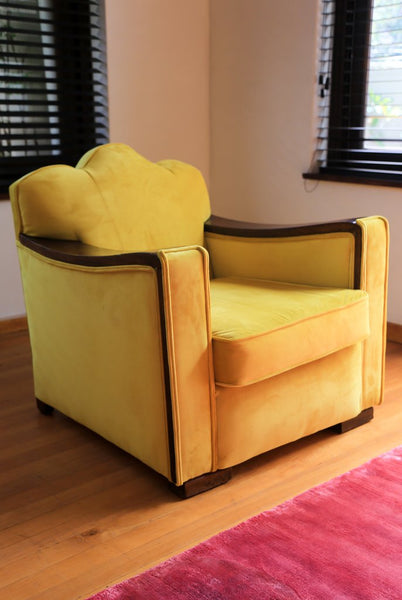 Recovered Art Deco Arm Chairs