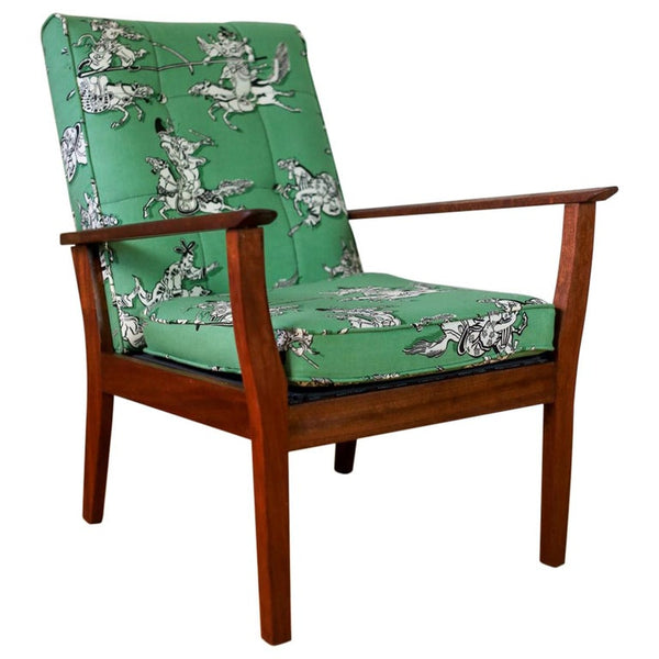 Mid Century Armchair with New Upholstery