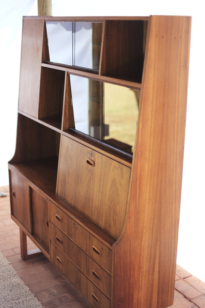 Mid-century Modern Walnut Wall Unit