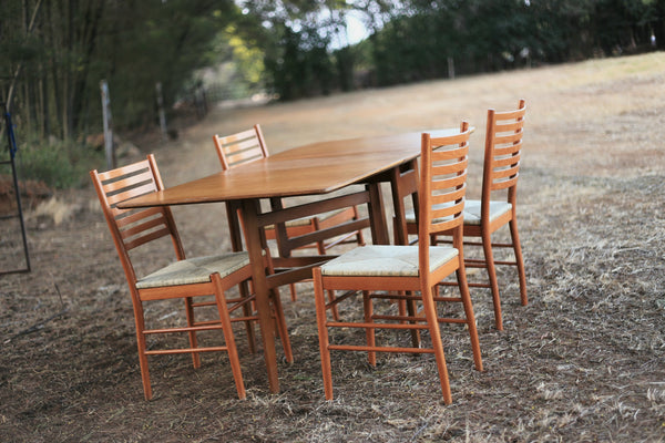 Designer Italian Ladder Back Dining Chairs