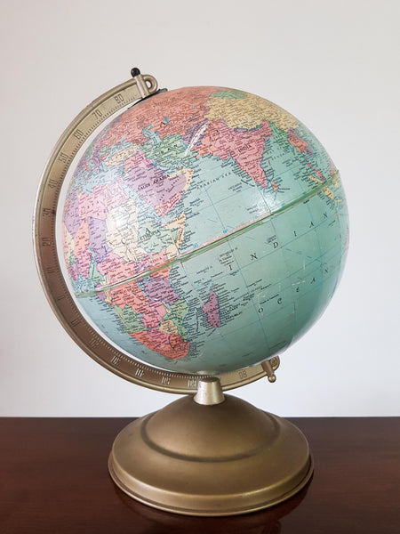 1950's Globe on a Metal Base