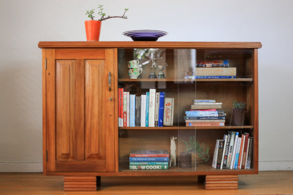 Solid Wood Art Deco Bookcase