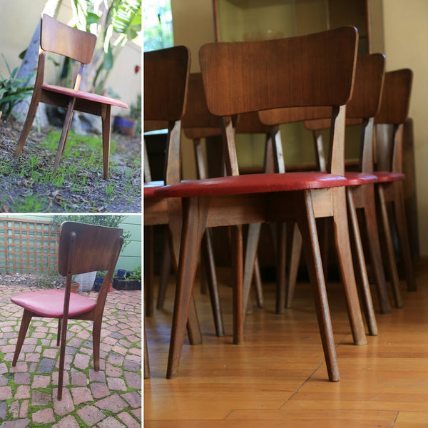 Six Retro Dining Chairs