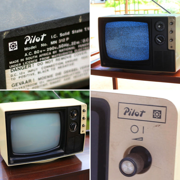 Portable Pilot TV from the Seventies