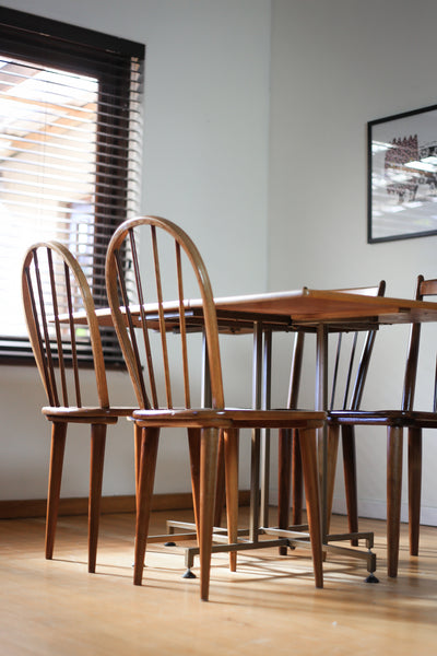 Two Bow Back Dining Chairs by E.E. Meyer for Binnehuis