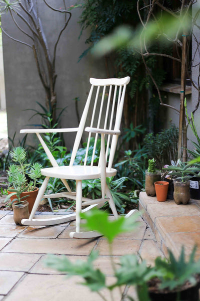 Finnish Inspired Spindle Rocking Chair