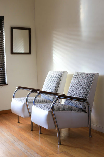 Two Tubular Steel Bauhaus Chairs - priced per item