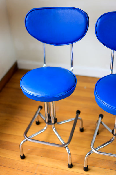 Vintage Chrome and Vinyl Kitchen Chairs