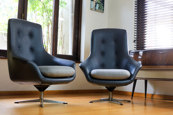 Mid Century Egg Swivel Chairs
