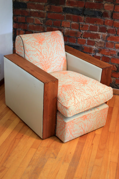 Upholstered Art Deco Club Chairs