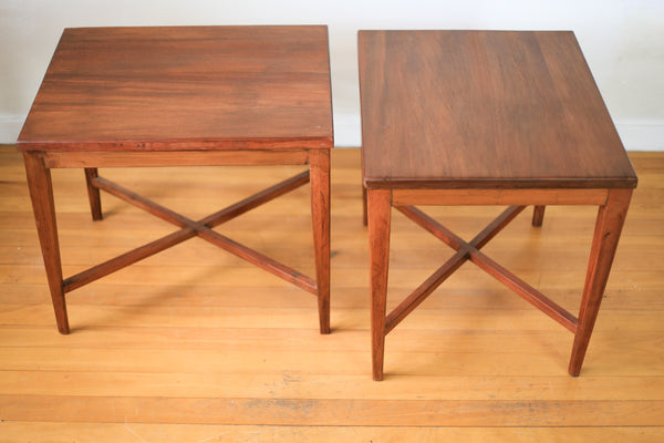 Solid Sapele Mahogany Side Tables
