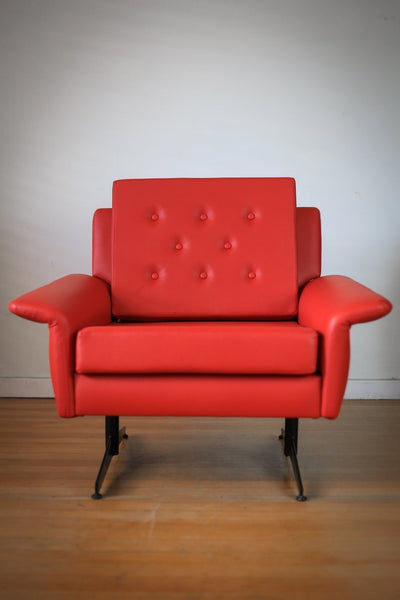 Red 1960's Retro Armchair