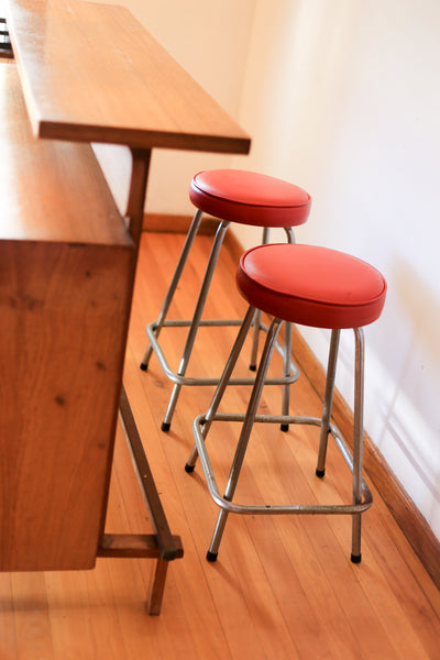 Two Retro Bar Stools