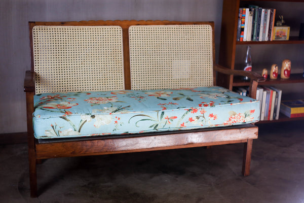 Vintage Loveseat with Cane Back