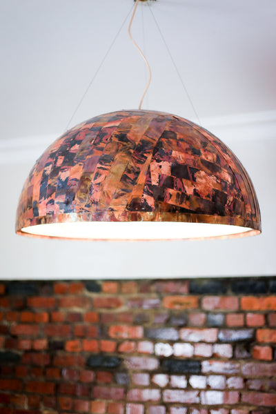 Huisraad Modern Copper Dome Lamp