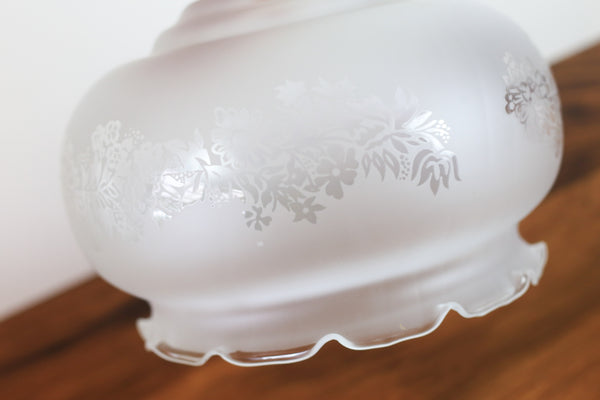 Vintage Frosted Glass Lamp Shade