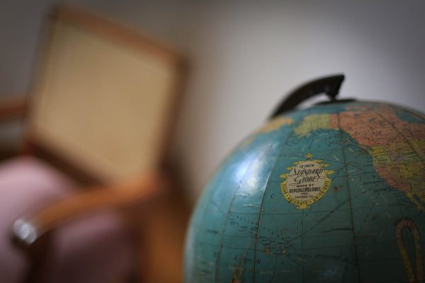 1940's Globe on a Metal Base